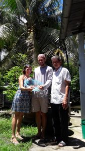 Chu Lau, Andy, me and a fish - soon lunch!