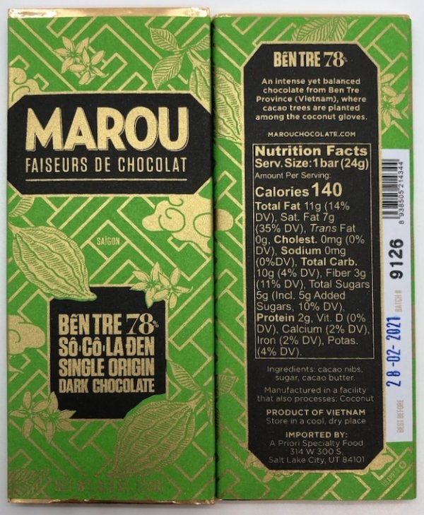Marou- 78% Ben Tre