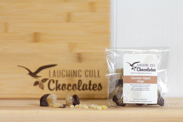Chocolate Dipped Ginger, Laughing Gull Chocolates