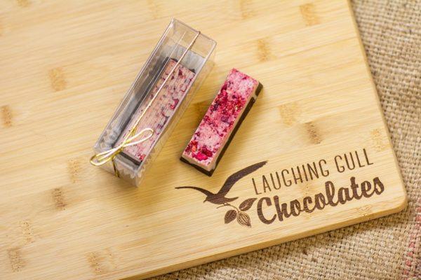 Berries & Cream Bar, Laughing Gull Chocolates