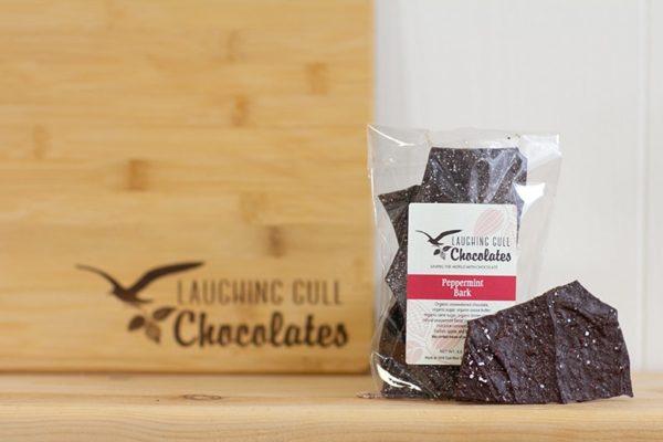 Peppermint Bark Laughing Gull Chocolates
