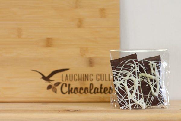 Dark & Matcha Swirl Bark with Sesame Seeds, Laughing Gull Chocolates
