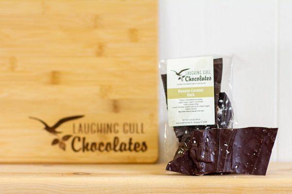 Bark - Coconut Banana, Laughing Gull Chocolates