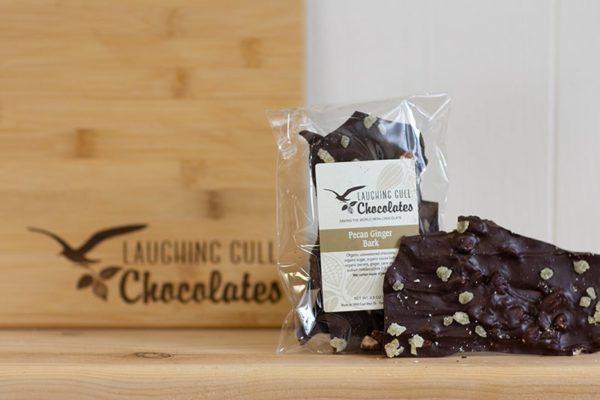 Pecan Ginger Bark - Laughing Gull Chocolates