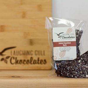 Salted Hazelnut Bark, Laughing Gull Chocolates