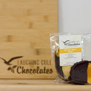 Chocolate Dipped Mango, Laughing Gull Chocolates