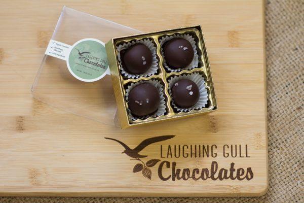 Caramel Lovers Truffles, Laughing Gull Chocolates