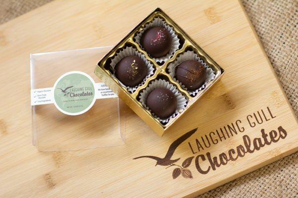 Custom box of Truffles, Laughing Gull Chocolates