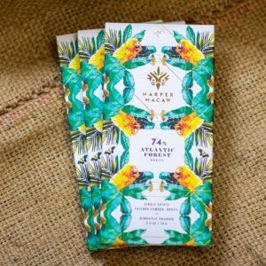 Harper Macaw Dark Chocolate, Laughing Gull Chocolates