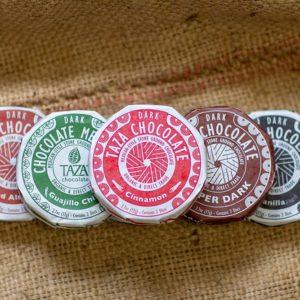 Taza Chocolate Disks, Laughing Gull Chocolates