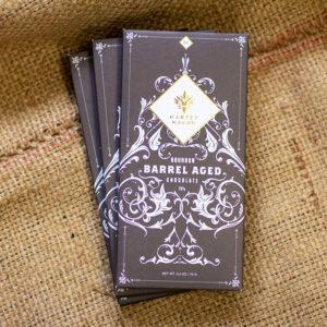 Harper Macaw Bourbon Barrel Aged Bar, Laughing Gull Chocolates