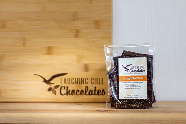 Orange Chai Bark, Laughing Gull Chocolates
