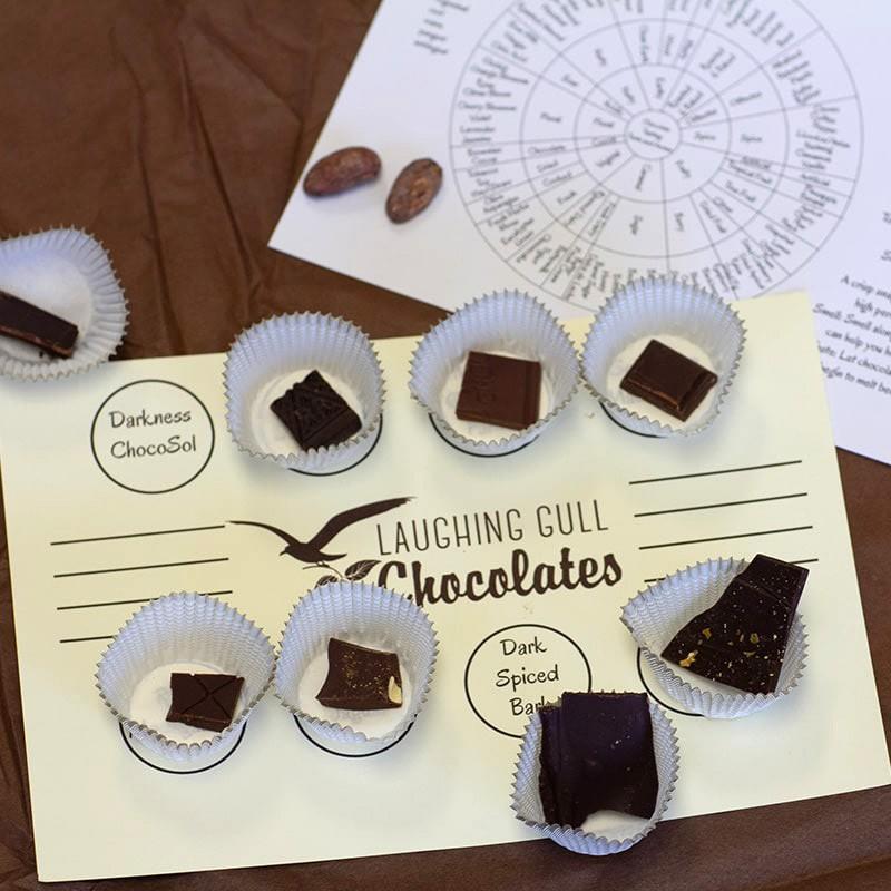 Virtual Chocolate Tasting, Laughing Gull Chocolates