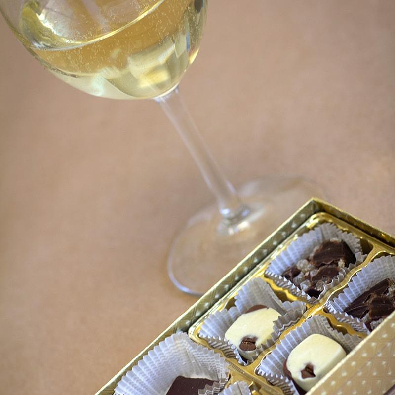 Wine & Chocolate Pairing, Laughing Gull Chocolates