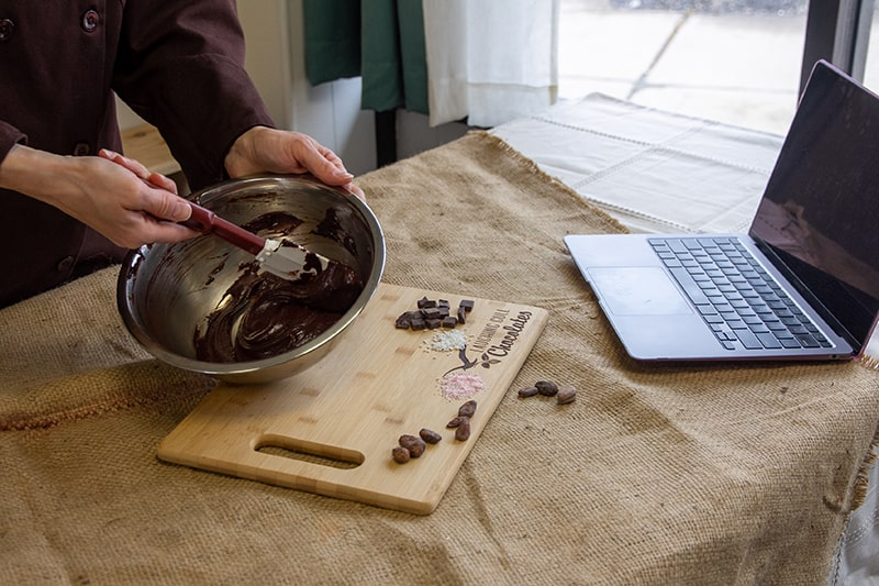 Virtual Truffle Making event, Laughing Gull Chocolates
